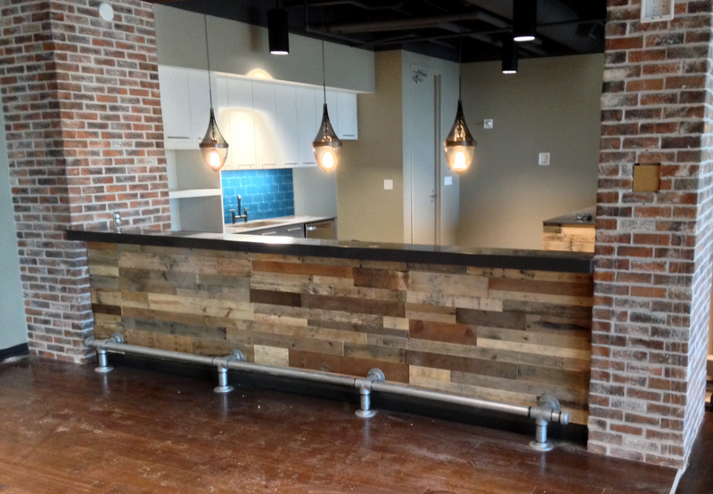 kitchen bar pallet wall